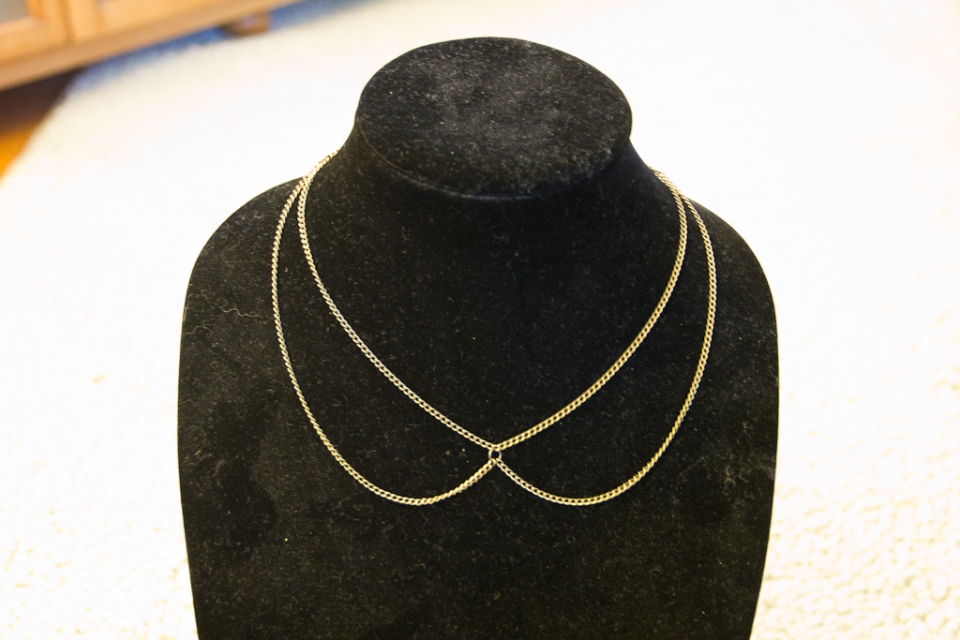 DIY Chain Collar Necklace