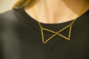 DIY Metal Bead Bow Tie Necklace